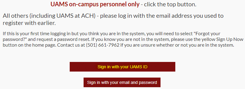 UAMS ID Sign-in to cloud CME