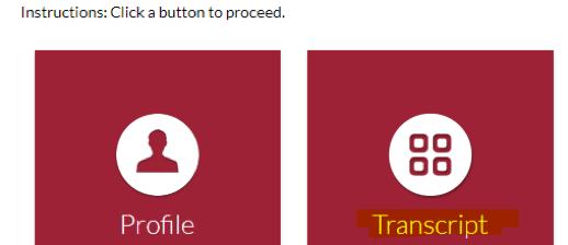 Transcript button